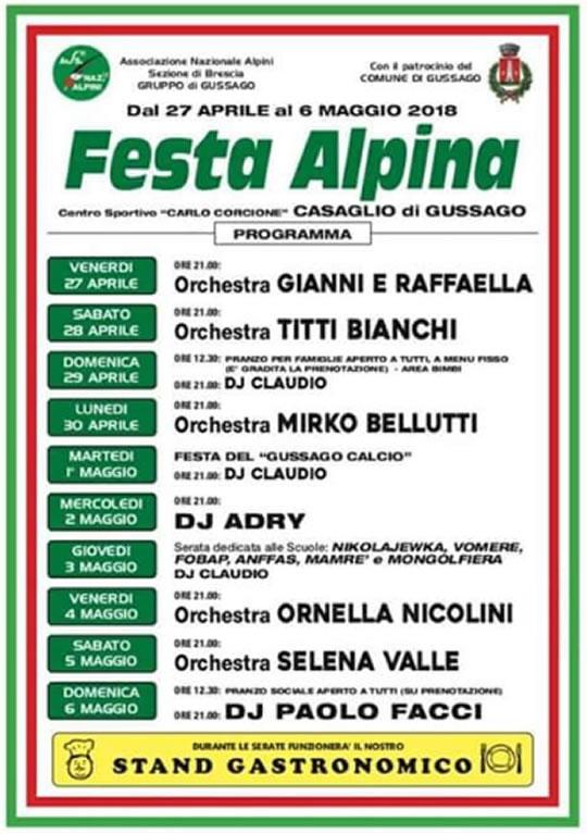 Festa Alpina a Gussago