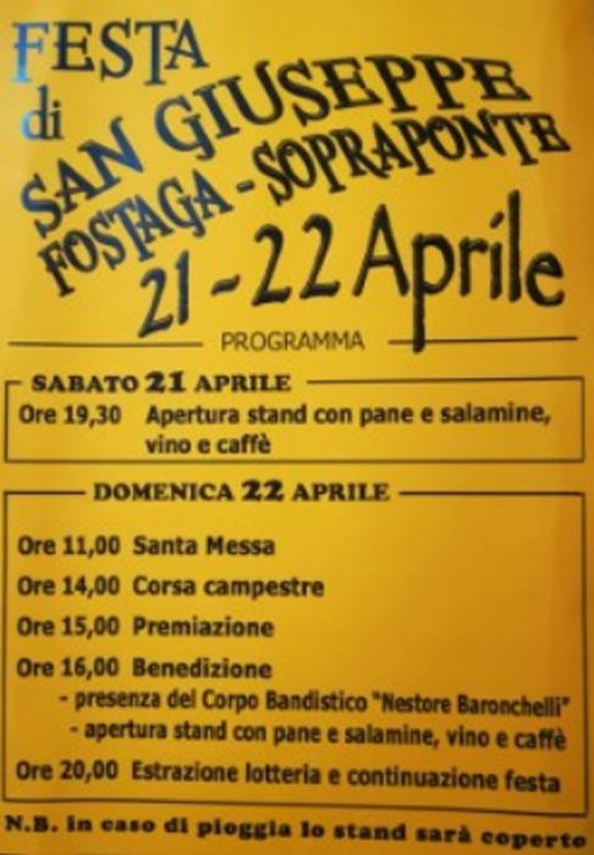 Festa di San Giuseppe Fostaga - Sopraponte di Gavardo