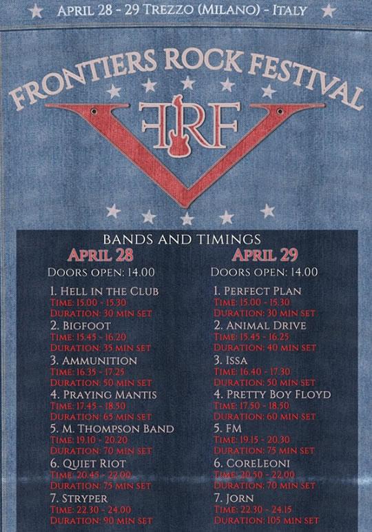 Frontiers Rock Festival a Trezzo MI