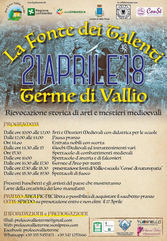 La Fonte dei Talenti a Vallio Terme