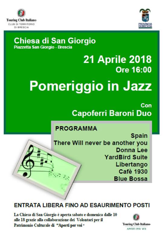 Pomeriggio in Jazz a Brescia