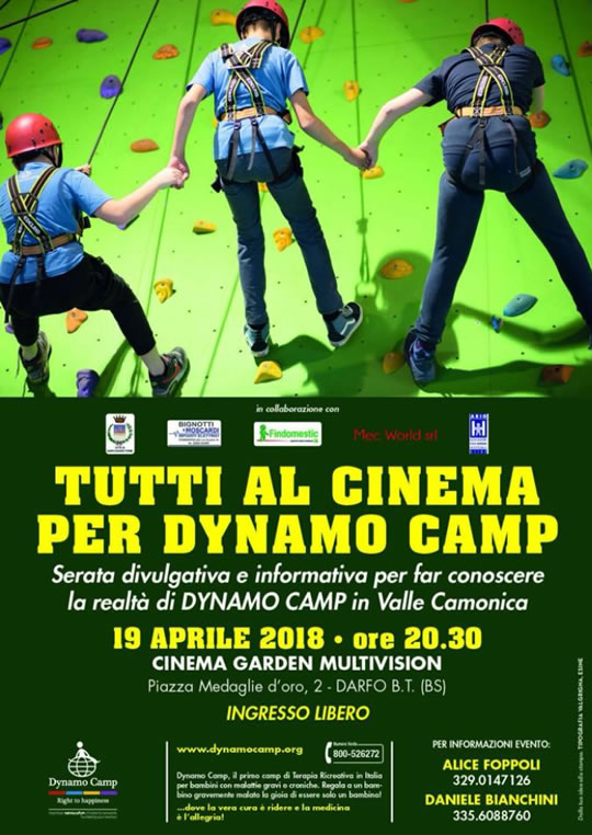 Tutti al Cinema per Dynamo Camp a Dafo BT