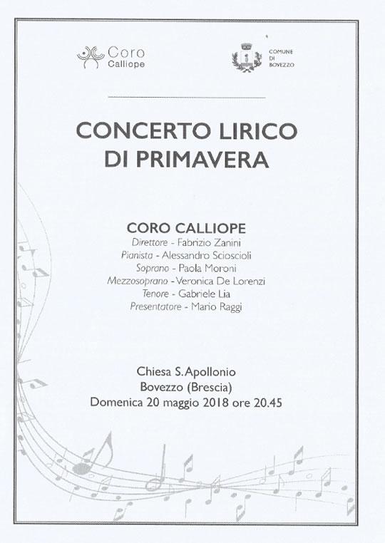 Concerto Lirico di Primavera a Bovezzo