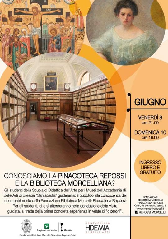 Conosciamo la Pinacoteca Repossi e la Biblioteca Morcelliana a Chiar