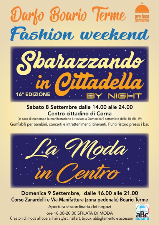 Fashion Weekend a Darfo Boario Terme