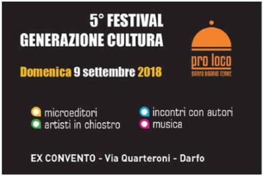 Festival Generazione Cultura a Darfo Boario Terme