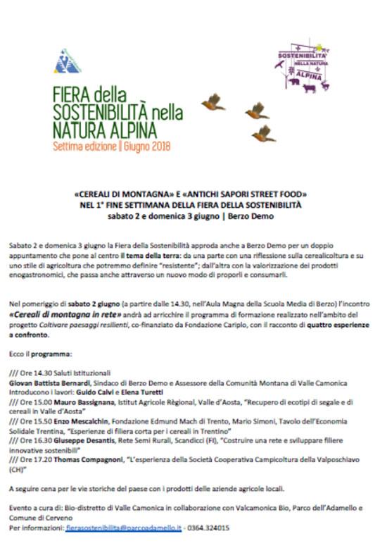 Fiera della Sostenibilità della Natura Alpina a Berzo Demo