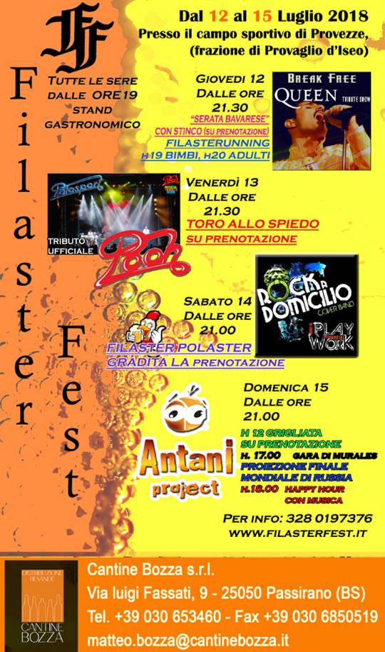 Filaster Fest a Provezze di Provaglio d'Iseo