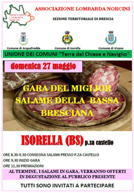 Gara del Miglior Salame della Bassa Bresciana a Isorella