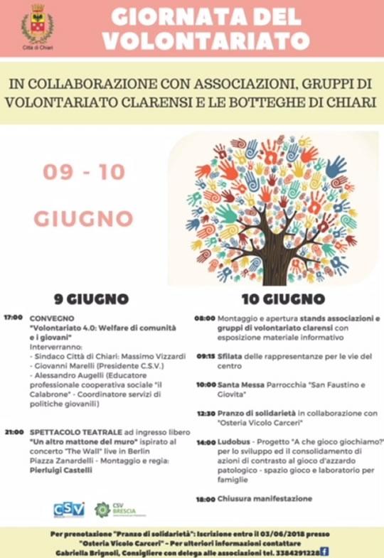 Giornata del Volontariato a Chiari