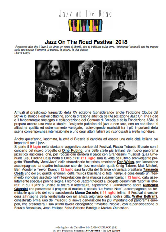 Jazz on the Road Festival a Brescia