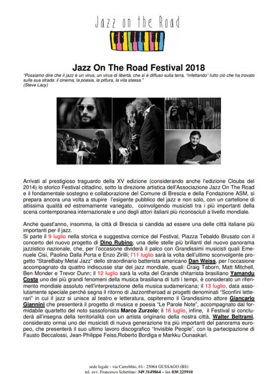 Jazz on the Road Festival a Brescia