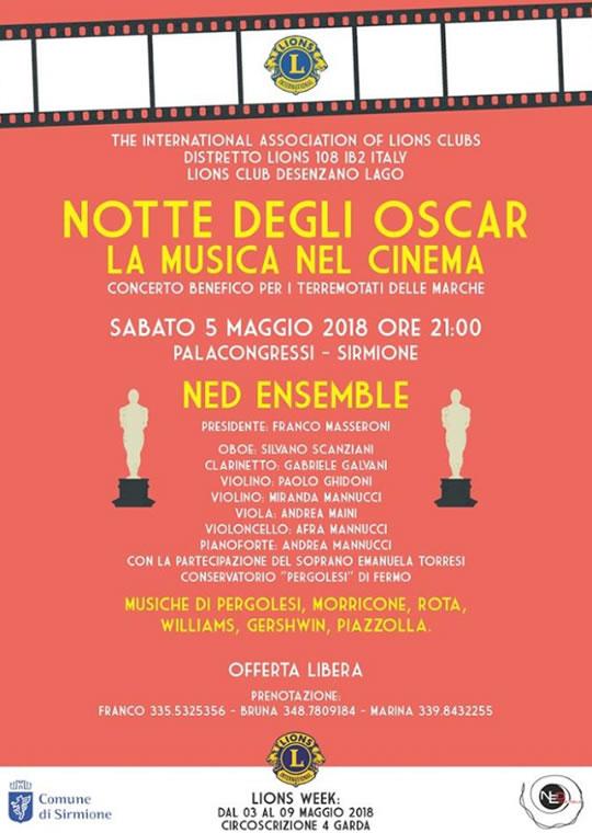 Notte degli Oscar La Musica nel Cinema a Sirmione