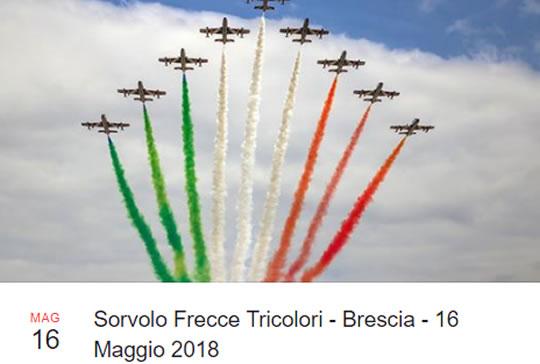 Sorvolo Frecce Tricolori a Brescia