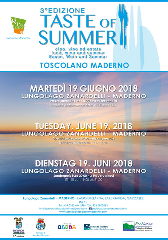 Taste of Summer a Toscolano Maderno