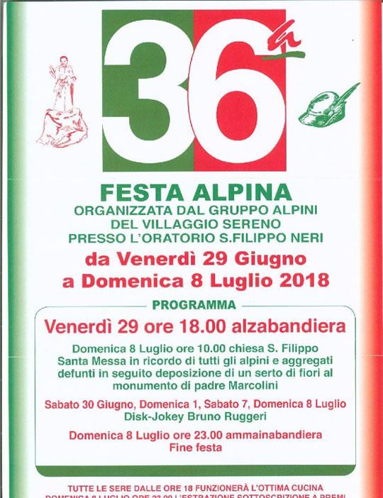 36° Festa Alpina al Villaggio Sereno