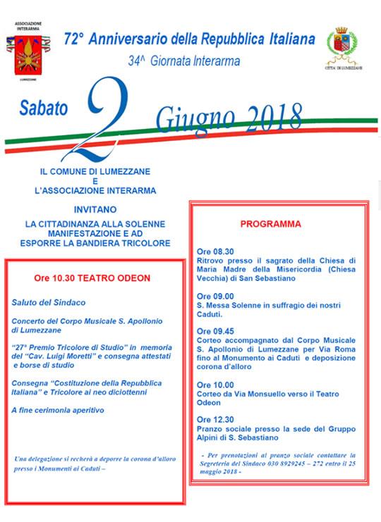 Anniversario della Repubblica Italiana a Lumezzane