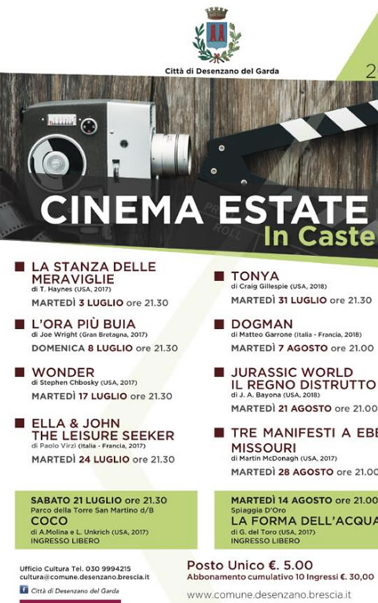 Cinema Estate in Castello a Desenzano
