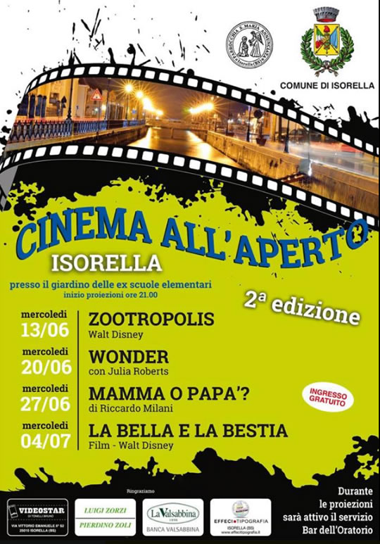 Cinema all'Aperto a Isorella