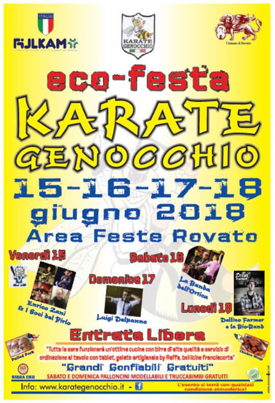 Eco-festa Karate Genocchio a Rovato