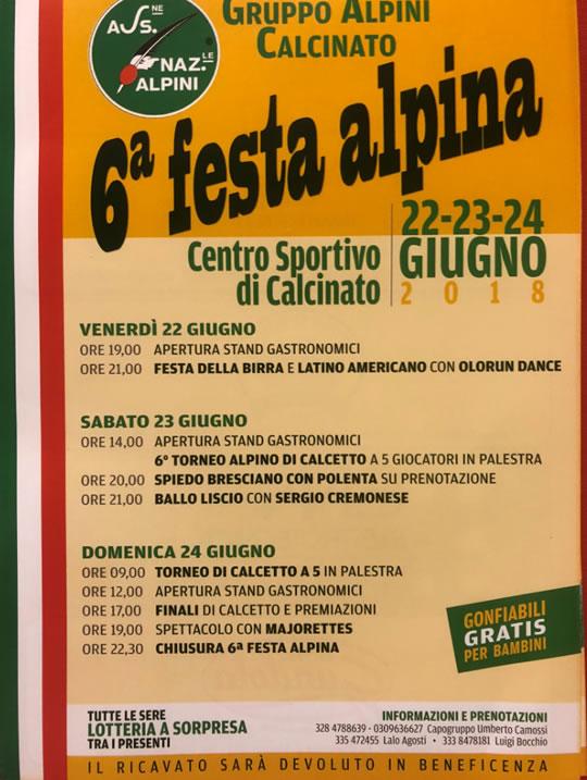 Festa Alpina a Calcinato