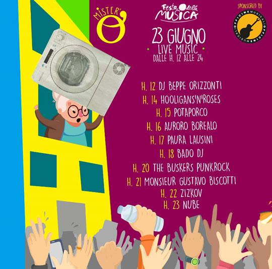 Festa della Musica palco Mister'o a Brescia