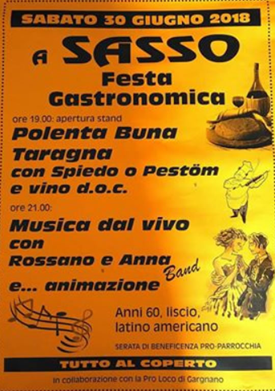 Festa della Polenta Taragna a Sasso di Gargnano