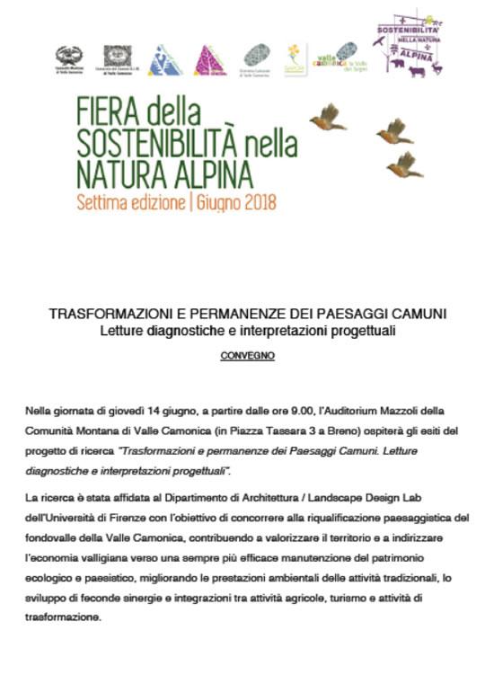 Fiera della Sostenibilità nella Natura Alpina a Breno