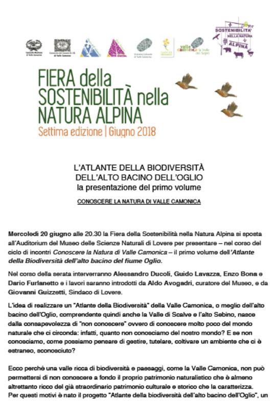 Fiera della Sostenibilità nella Natura Alpina a Lovere