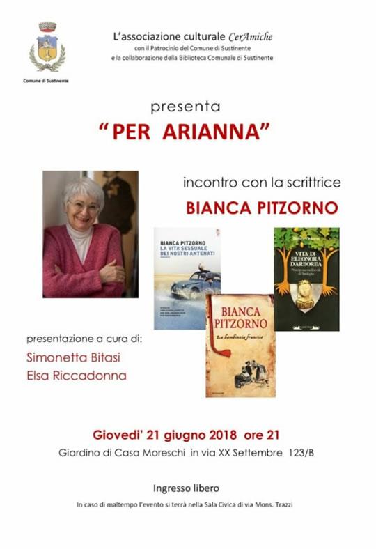 Incontro con la scrittrice Bianca Pitzorno a Sustinente