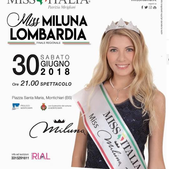 Miss Miluna Lombardia a Montichiari