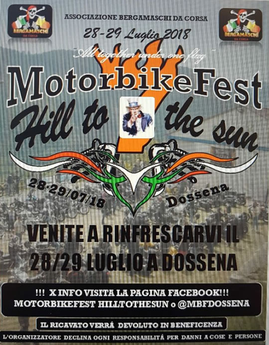 Motorbike Fest Hill to the Sun a Dossena BG