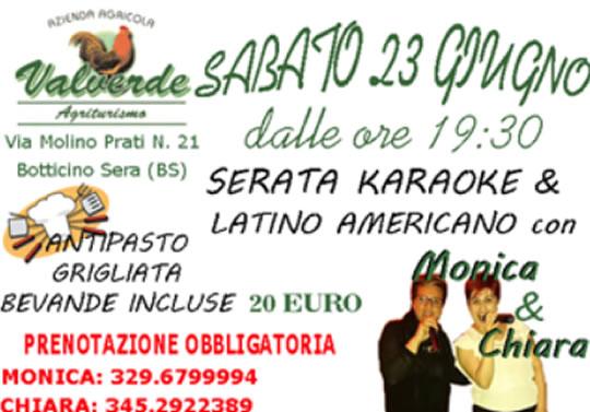 Serata Karaoke e Latino Americano a Botticino