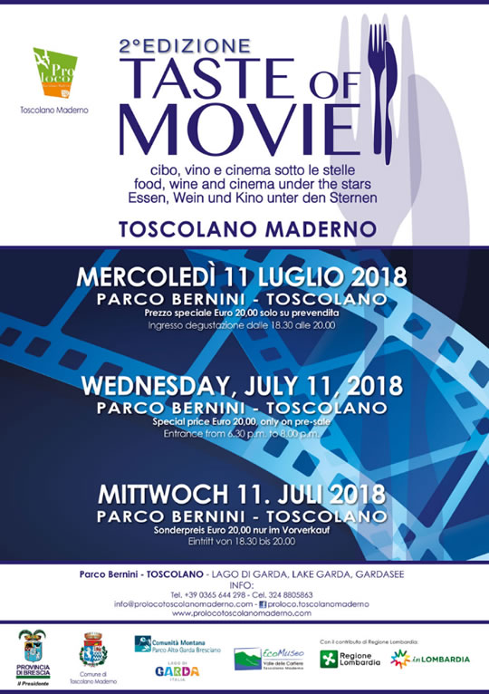 Taste of Movie a Toscolano Maderno
