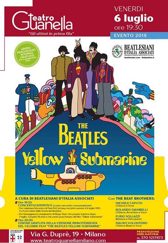 The Beatles Yellow Submarine a Milano