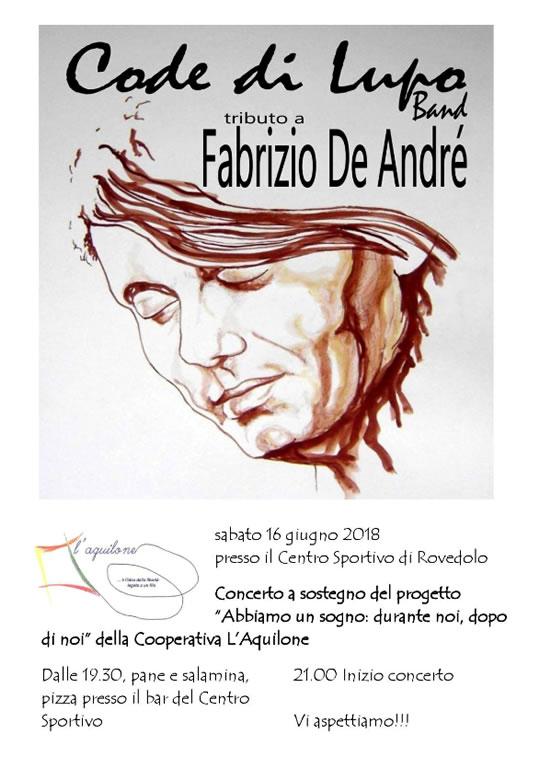 Tributo a Fabrizio De Andrè a Rovedolo