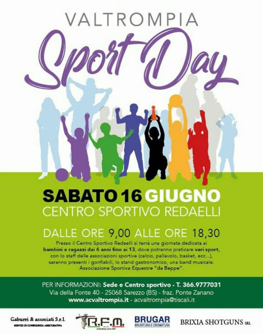 Valtrompia Sport Day a Sarezzo
