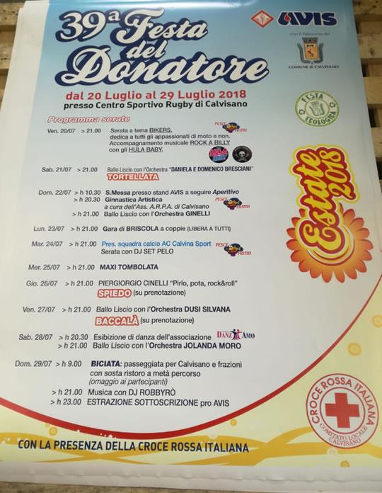 39 Festa del Donatore a Calvisano