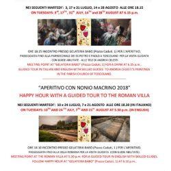 Aperitivo con Marco Nonio Macrino a Toscolano Maderno