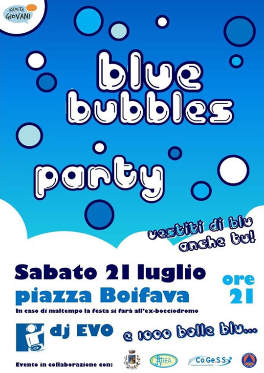 Blue Bubbles Party a Serle