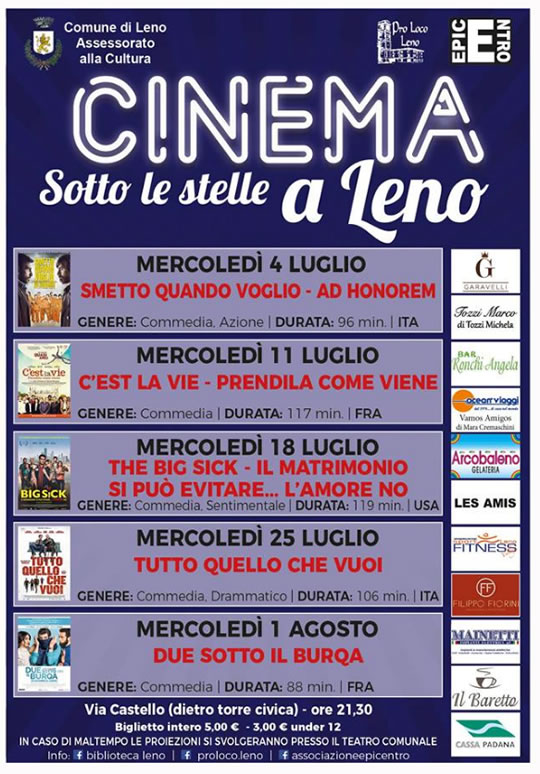 Cinema Sotto le Stelle a Leno