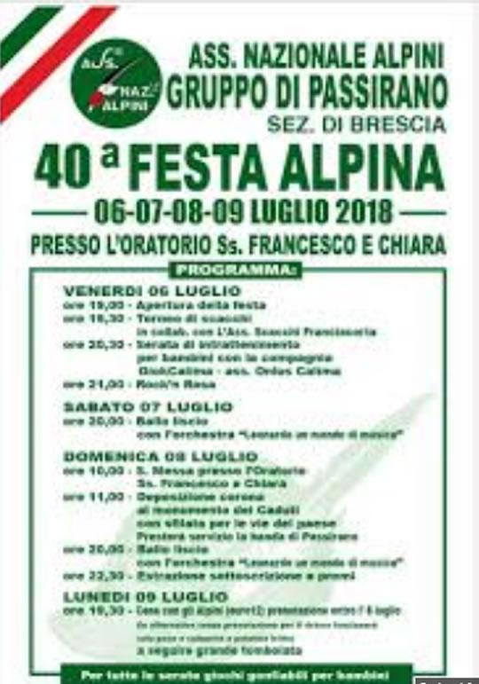 Festa Alpina a Passirano