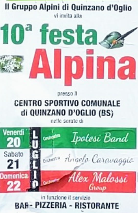 Festa Alpina a Quinzano d'Oglio