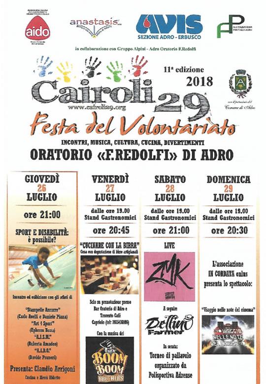 Festa Cairoli 29 Adro
