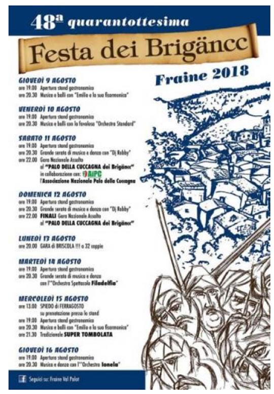 Festa dei Brigancc a Fraine di Pisogne