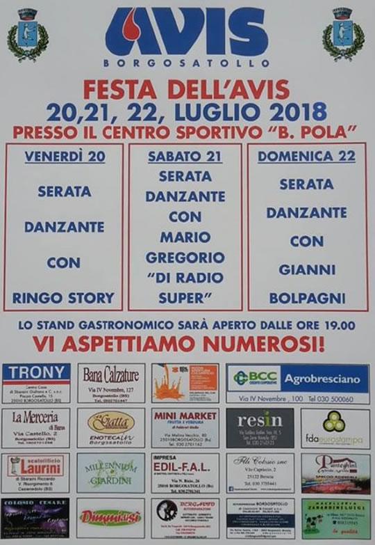 Festa dell'AVIS a Borgosatollo