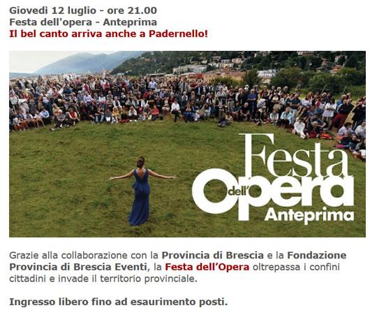 Festa dell'Opera Anteprima a Padernello