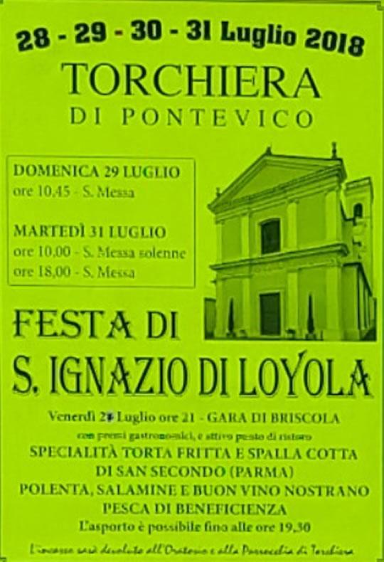 Festa di S.Ignazio di Loyola a Torchiera di Pontevico