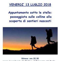 Passeggiata in notturna tra le colline a Polpenazze del Garda