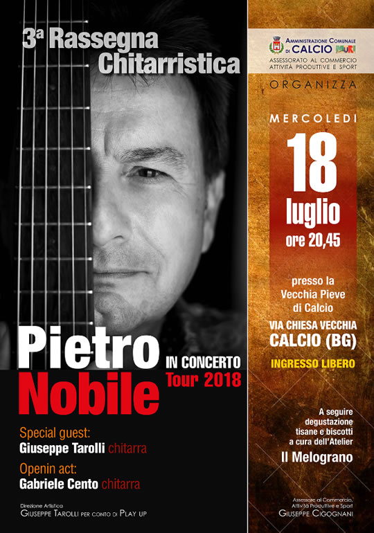 Pietro Nobile in Concerto a Calcio (BG)